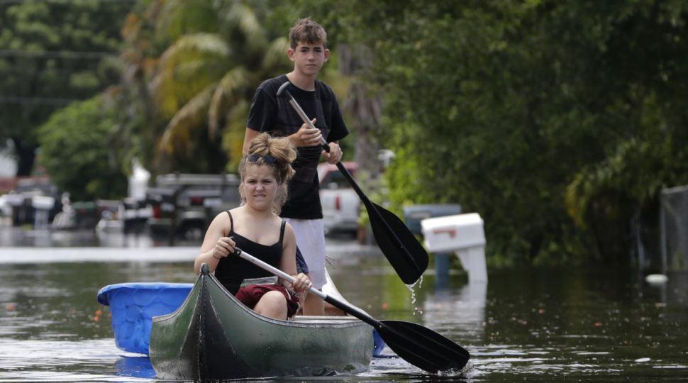 Inundaciones afectan el sur de Florida, Estados Unidos