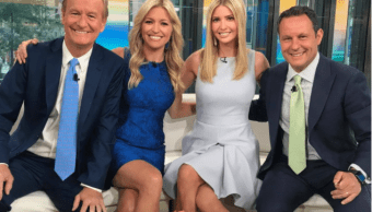 Ivanka Trump durante su visita al estudio de Fox & Friends