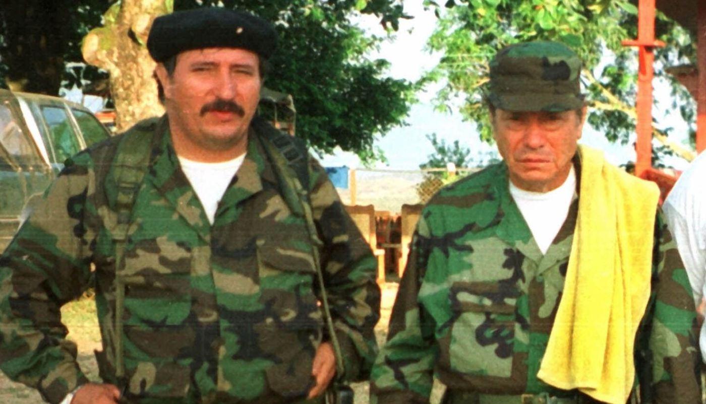 Jorge Briceno y Manuel Marulanda, líderes de las FARC