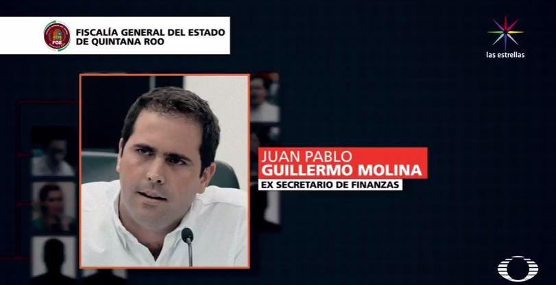 Juan Pablo Guillermo Molina, investigado por la Fiscalía de Quintana Roo (Noticieros Televisa)