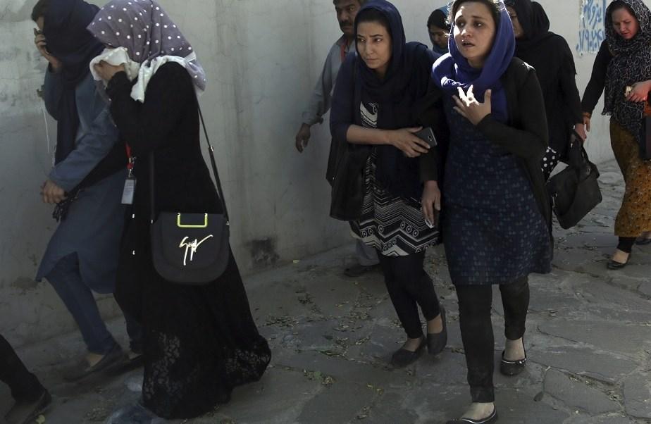 Ataque en funeral de víctimas en Kabul (AP)