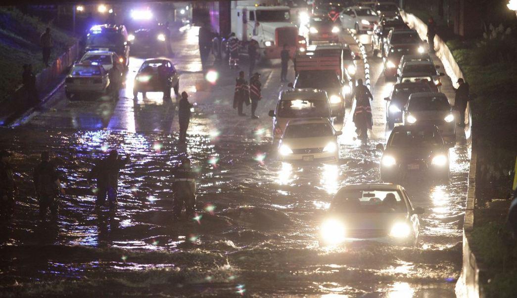 Clima, lluvia, Metrobús, Indios Verdes, CDMX, inundación