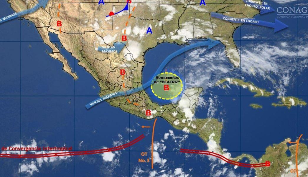 Clima, Lluvias, Campeche, Baja presion, encharcamientos, Noticias