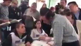 El secretario de Desarrollo Social, Luis Enrique Miranda, no pudo votar en el Edomex (Redes sociales)