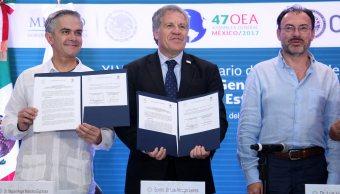 Conago, OEA, Acuerdo Marco de Cooperación, Videgaray, Mancera, Cancún
