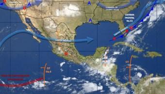 mapa con el clima para este 9 de junio
