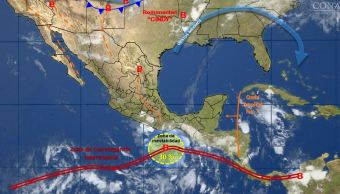 Mapa del clima de 23 de junio Conagua