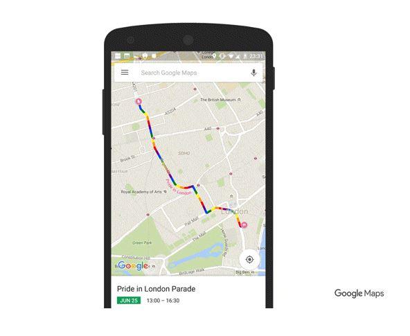 Google, Maps, rutas, marchas, Orgullo Gay.