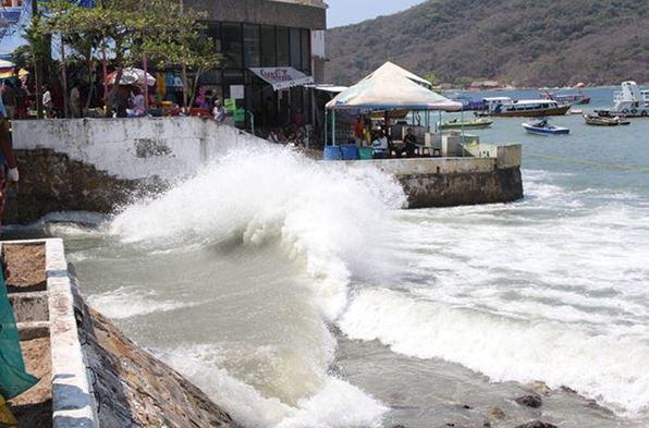 Guerrero, Acapulco, Alto oleaje, Mar de fondo, Noticieros televisa, Forotv