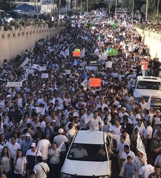 Marcha, oposición, PAN, Morena, PT, PRI, Coahuila, IEC