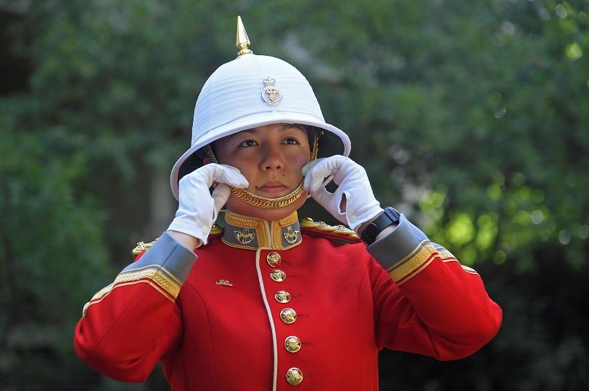 Megan Couto marchó frente a unos 40 soldados canadienses (Reuters)