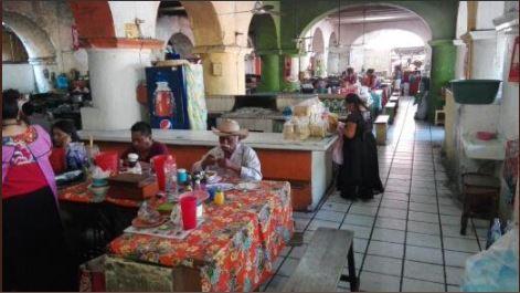 Zona de comida del mercado de juchitan