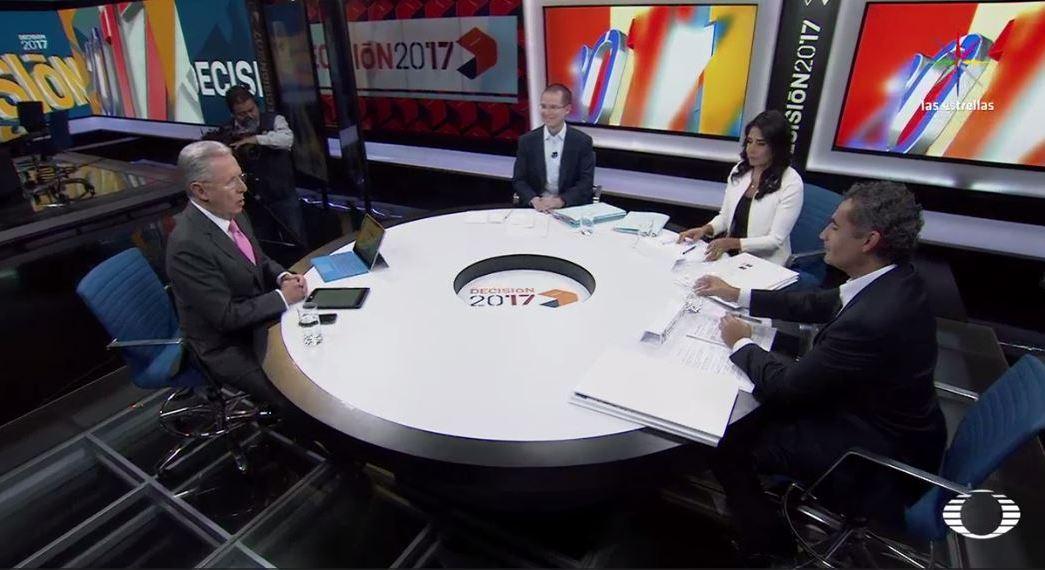 Joaquín López-Dóriga, debate, Decisión 2017, elecciones, política, Noticieros Televisa