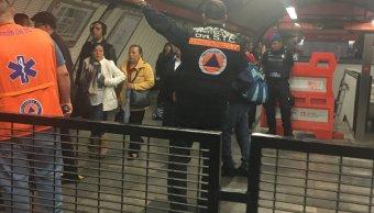 Línea 7 del Metro CDMX una tromba obligó a cerrar varias estaciones