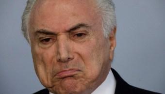 Michel Temer, presidente de Brasil, enfrenta acusaciones de corrupción