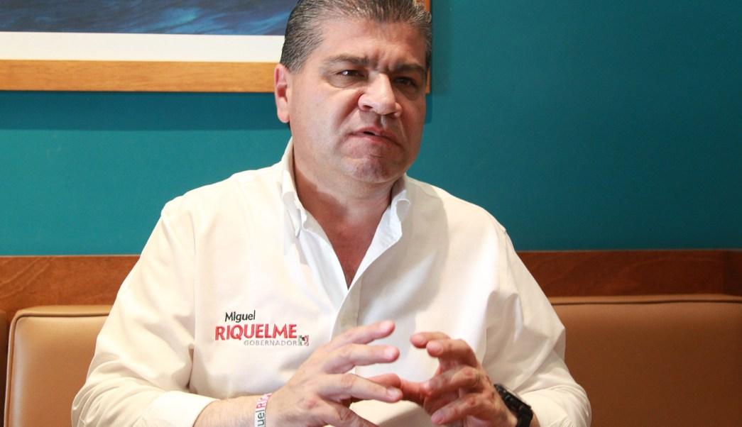 Miguel Ángel Riquelme, candidato de la alianza Por un Coahuila Seguro