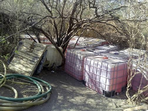 Militares decomisan combustible robado en Guamuchil Sinaloa