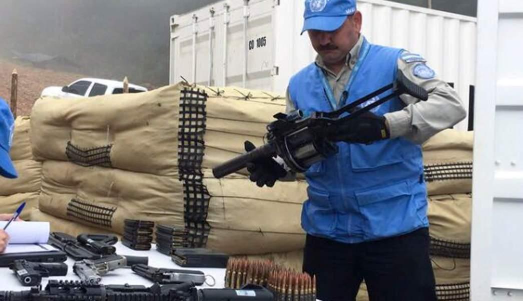 Misión de Naciones Unidas verifica desarme de las FARC