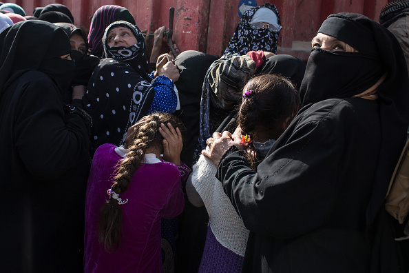 Mujeres usan el niqab en Mosul
