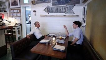 Obama, cena, Trudeau, Montreal, restaurante, ministro,