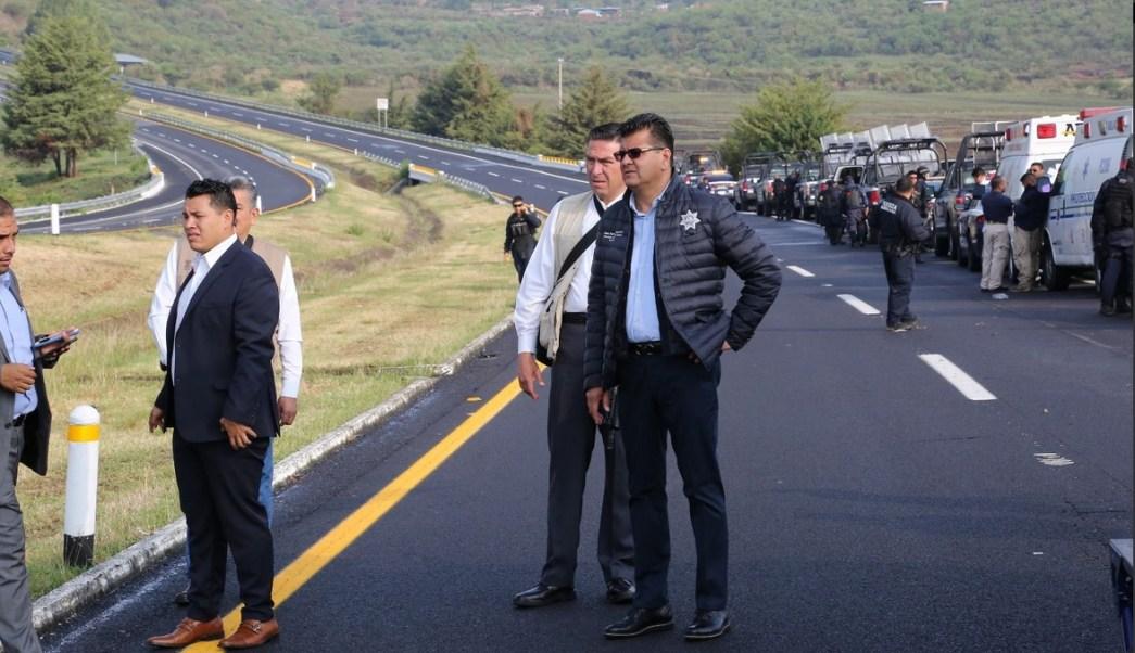Policias muertos, Volcadura, Michoacan, Policias muertos en michoacan, seguridad