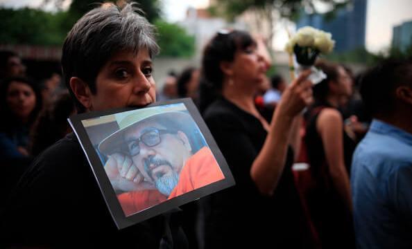 Javier Valdez, Periodista, Periodistas, Marcha por el asesinato de Javier Valdez, Ciudad de Mexico, Protestas