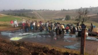 Puebla, derrame, combustible, terrenos, cultivos, agricultores