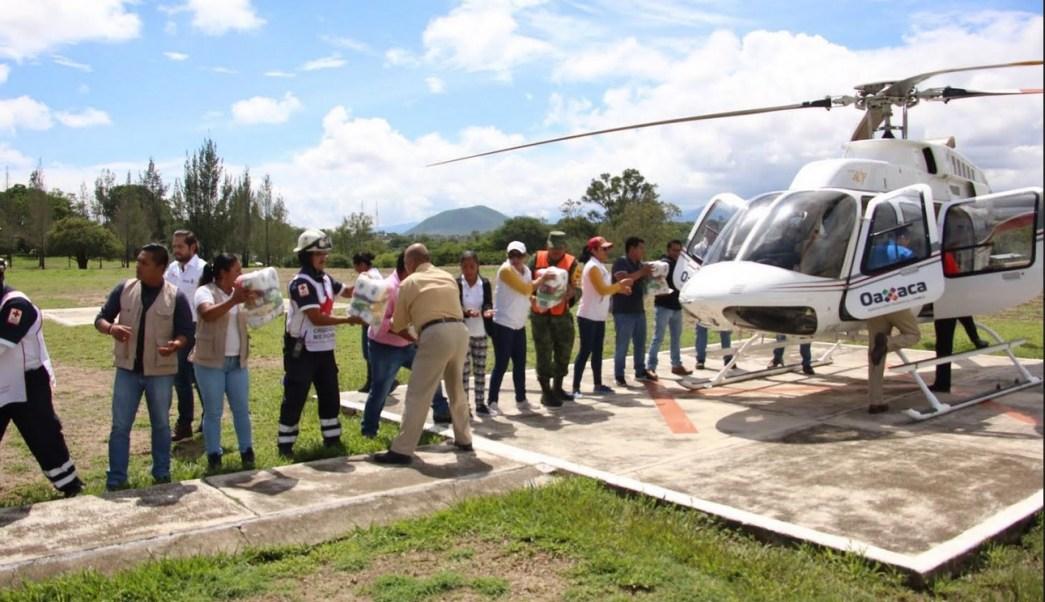 Restablecen, Puente aereo, Oaxaca, Sierra sur, Clima, Luvias