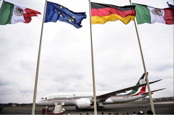 banderas de mexico, alemania y union europea