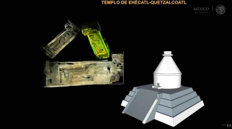templo Ehécatl, INAH, México-Tenochtitlán, templo azteca