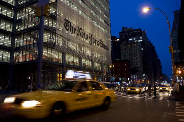 Sede del diario The New York Times
