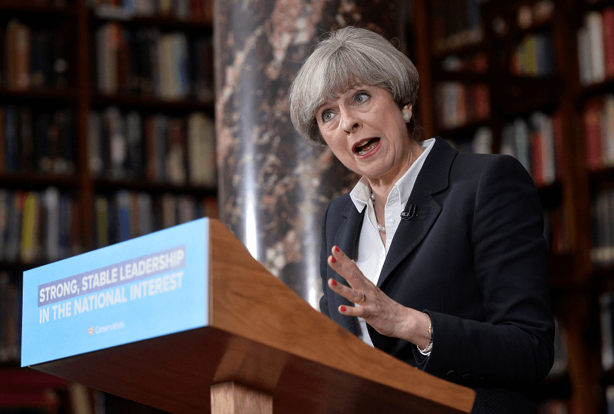 Theresa May, primera ministra británica