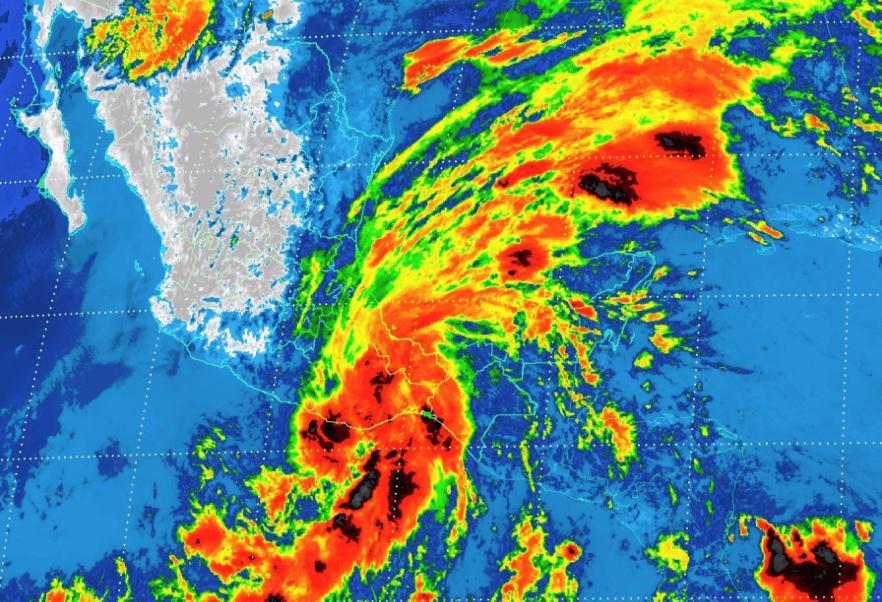 Tormenta tropical Beatriz, cerca de Oaxaca, Tormenta tropical