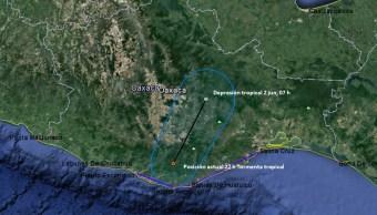 Tormenta tropical, Beatriz, clima, Oaxaca, lluvias, Pacífico