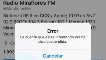 Gobierno de Venezuela, Critica, Twitter, Suspender Cuentas, Chavistas, Hugo Chávez, Radio