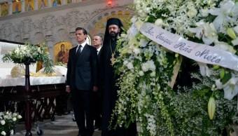 Enrique Peña Nieto, Antonio Chedraoui, Funeral de antonio chedraoui, iglesia ortodoxa, iglesia