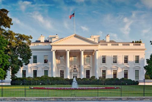 Casa Blanca Washington Estados Unidos Bandera