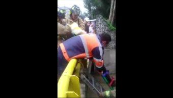 Atropellan, cae a río, Magdalena Contreras, Héroes de Padierna