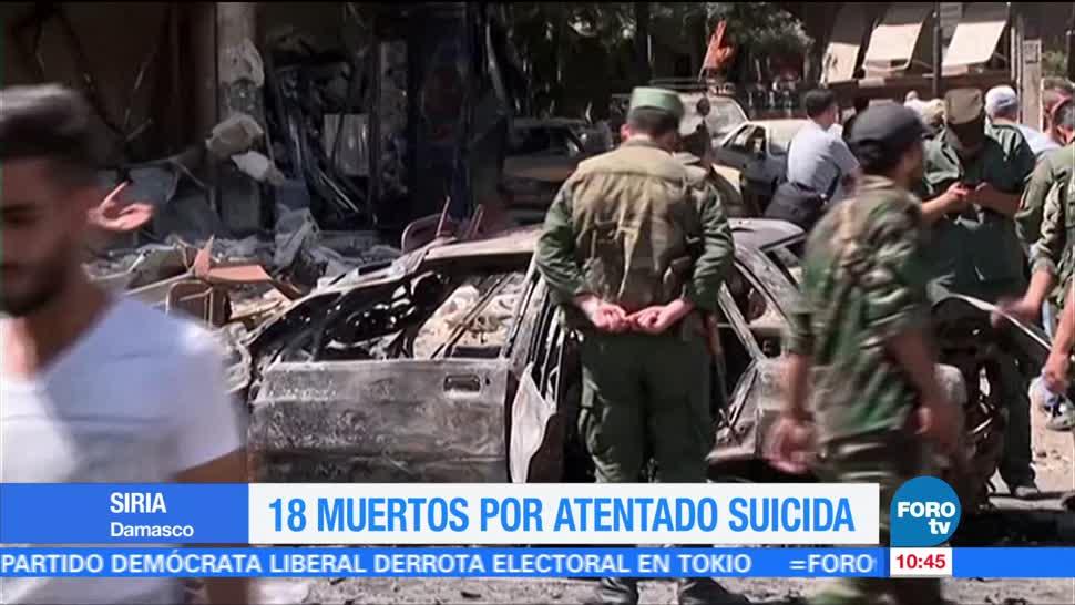 Atentado suicida, 18 muertos, Damasco, Siria