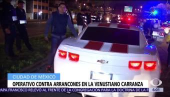 tres personas, detenidas, autoridades, arrancones, Venustiano Carranza