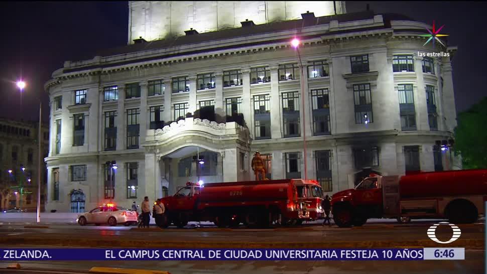 incendio, cuarto de máquinas, fachada, Palacio de Bellas Artes