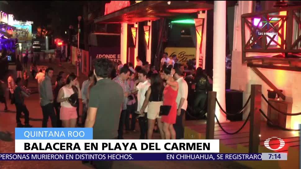 Balacera, discoteca, Playa del Carmen, muerto