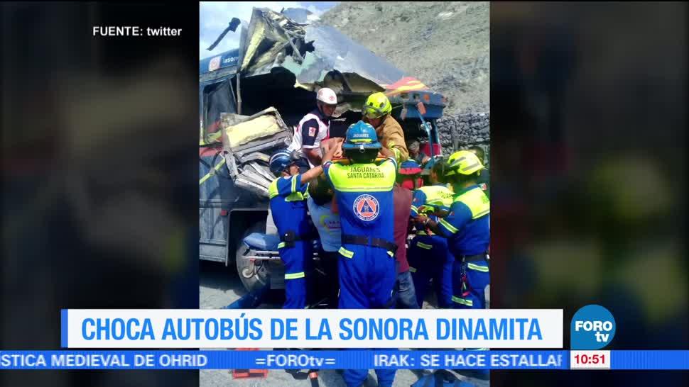 camión, integrantes, Internacional Sonora Dinamita, Lucho Argain, autopista Monterrey-Saltillo