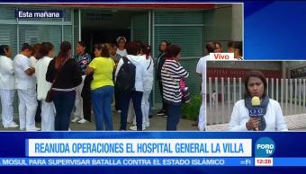 Hospital General La Villa, consulta externa, inundaciones, Ciudad de México