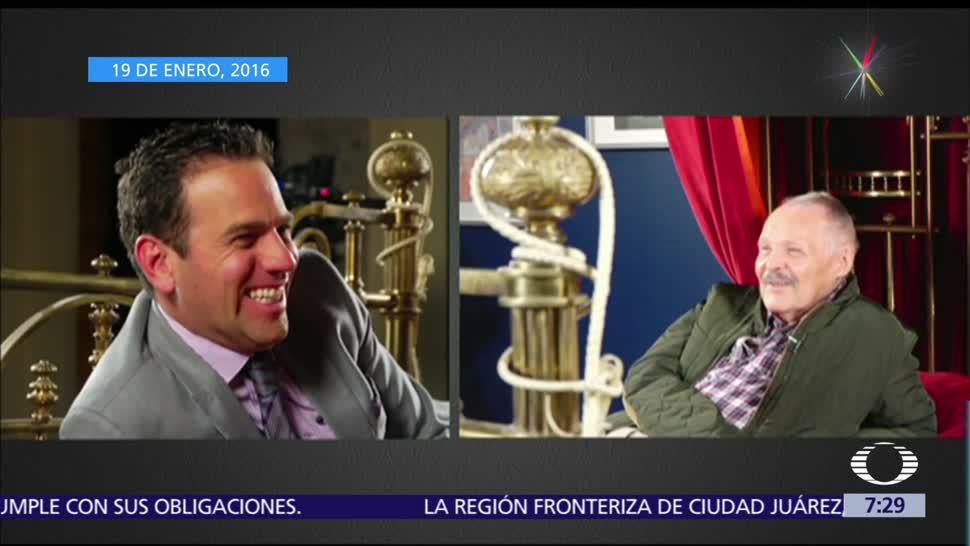 José Luis Cuevas, fallecido ayer, 83 años, entrevista, Carlos Loret, cama