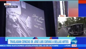 Esperan, Bellas Artes, restos de José Luis Cuevas