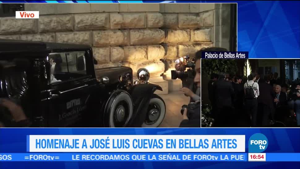 Llegan restos, José Luis Cuevas, Bellas Artes