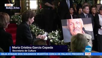 María Cristina García Cepeda, Secretaria de cultura, José Luis Cuevas, generación