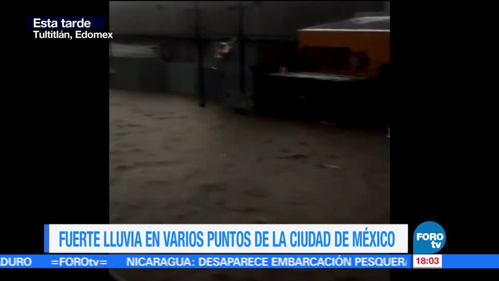 Fuertes, lluvias, inundaciones, Valle de México