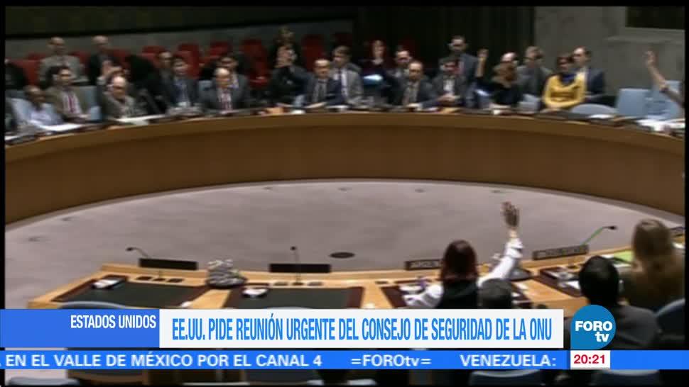 noticias, forotv, Estados Unidos, reunión urgente, Consejo de Seguridad, Naciones Unidas